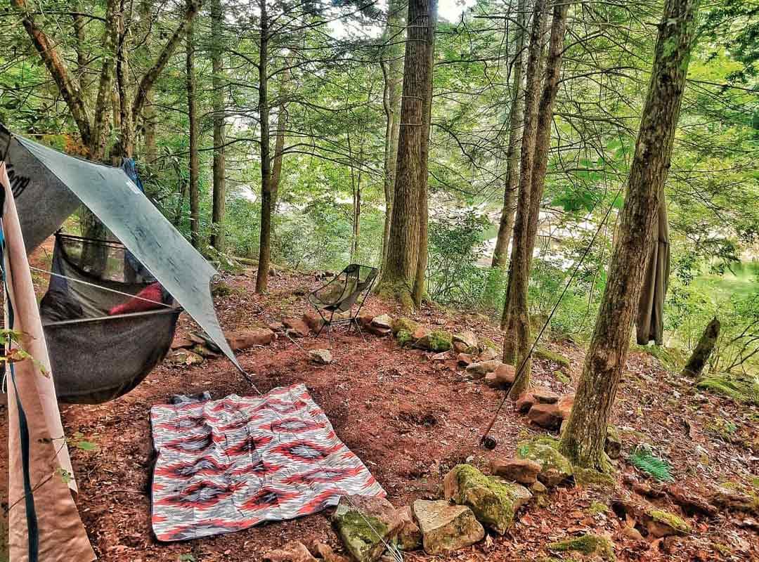 Hammock at campsite