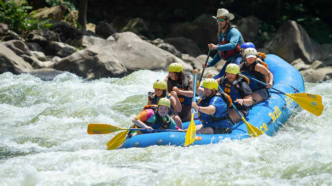 Photo of rafting trip during G.I.R.L. Fest
