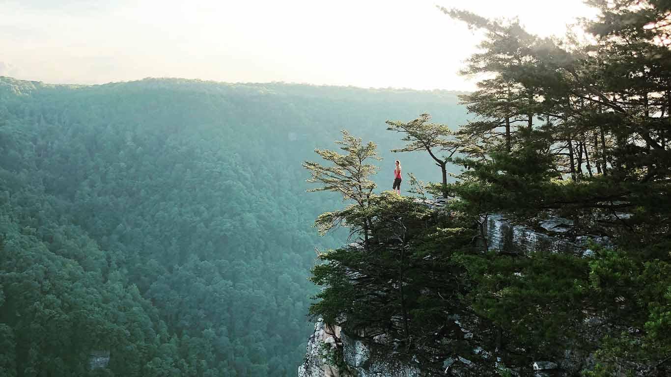 Woman at Endless Wall Trail