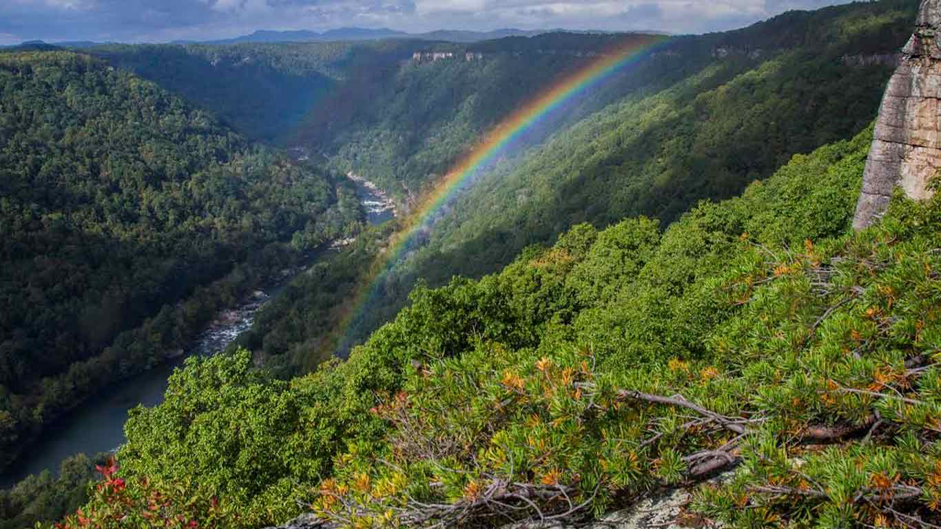 Beautiful photo capturing a rainbow