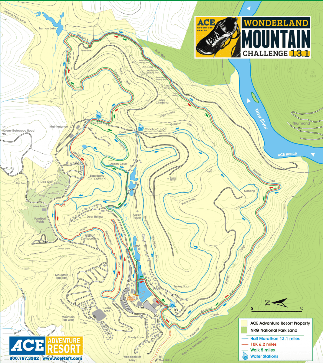 wonderland challenge race map