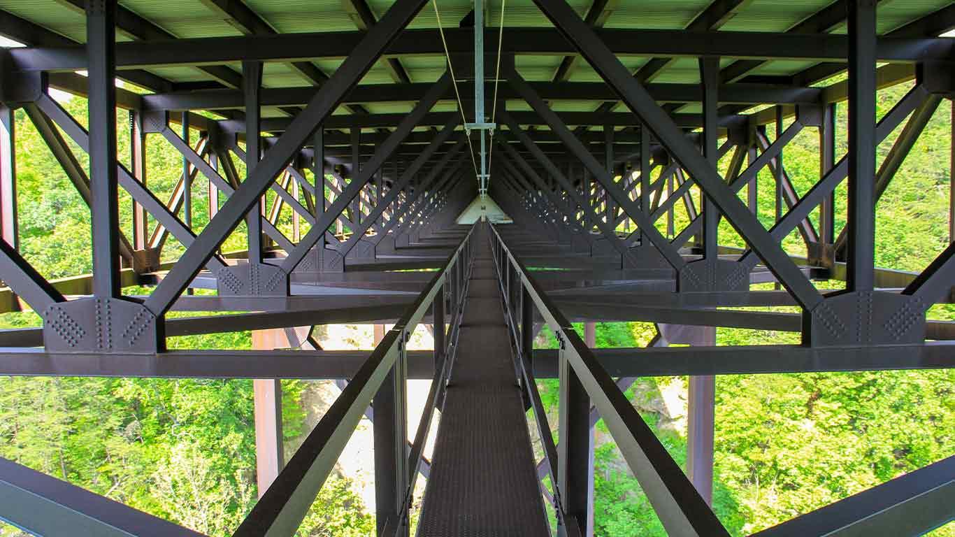 Cat walk under the New River Gorge Bridge