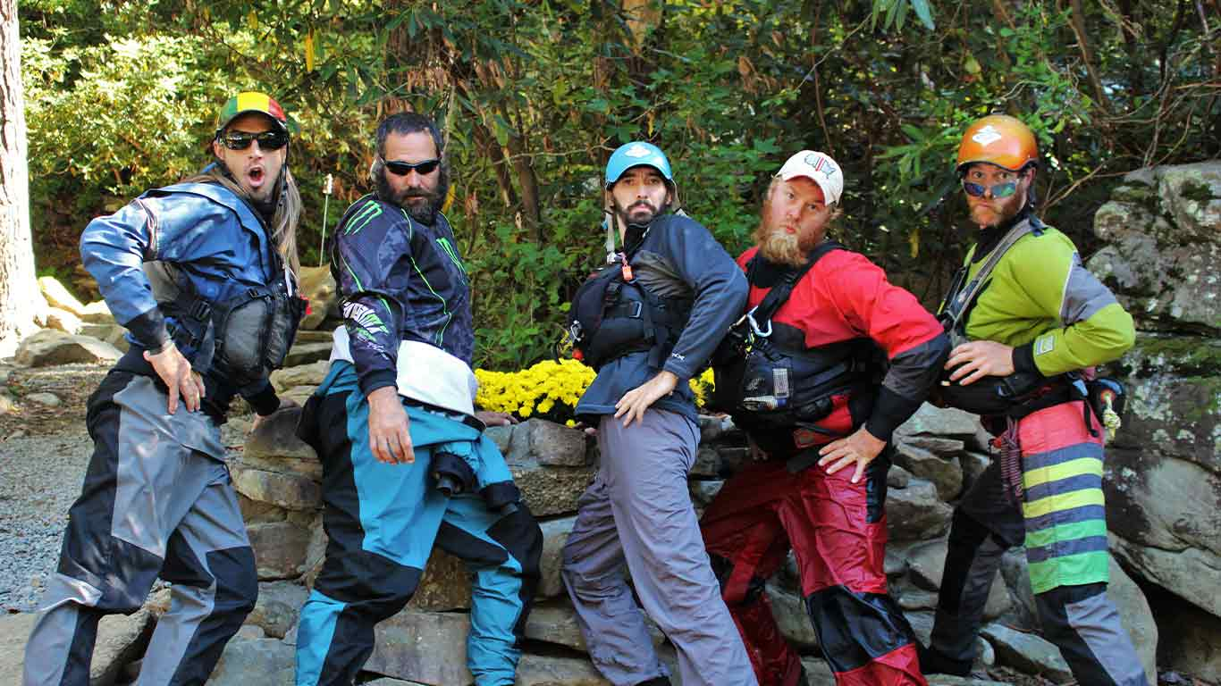 Group of raft guides