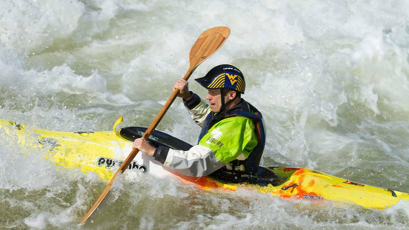 Kayaker on river