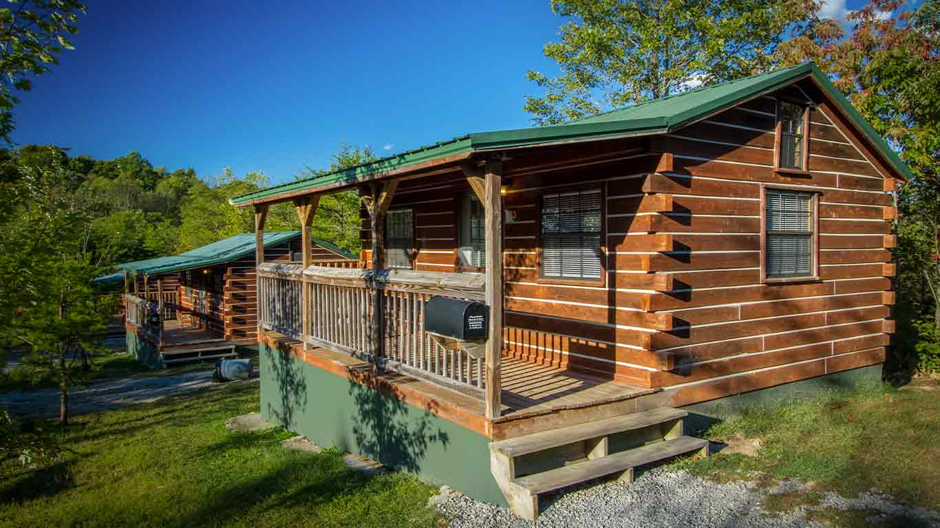 Rustic cedar cabin