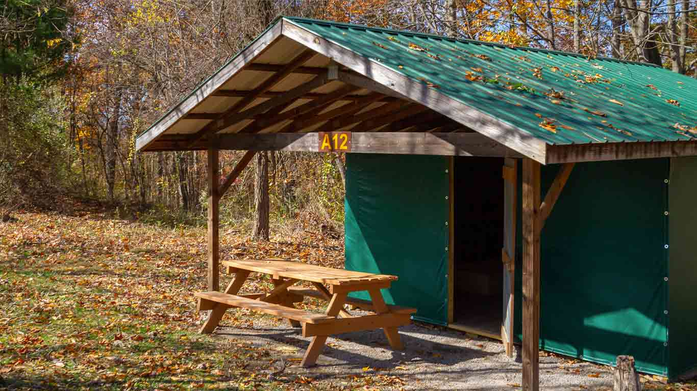 Rustic cabin tent