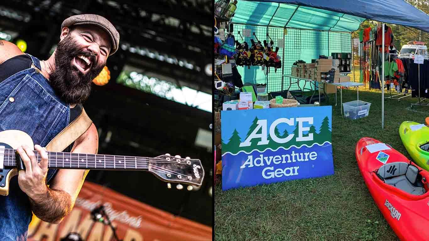 Rev Peyton band and AAG sign with kayaks