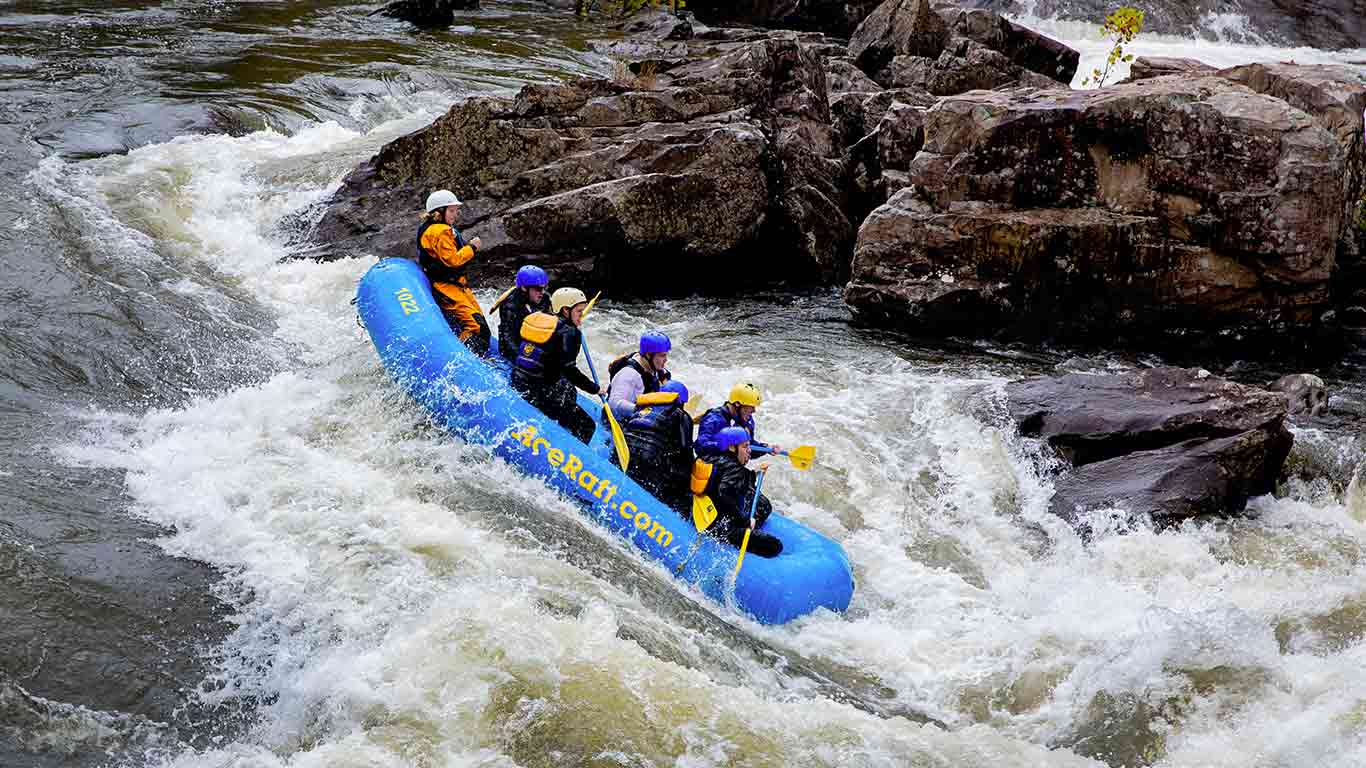Group of guesting rafting with ACE Adventure Resort