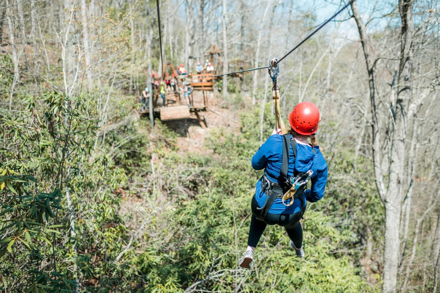 Ziplining in the New River Gorge