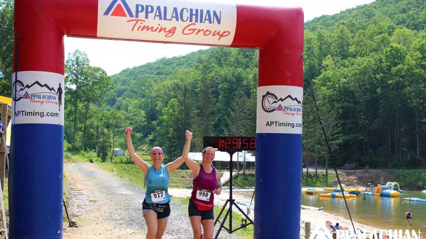 Finish line fror Wonderland Mountain Challenge Race