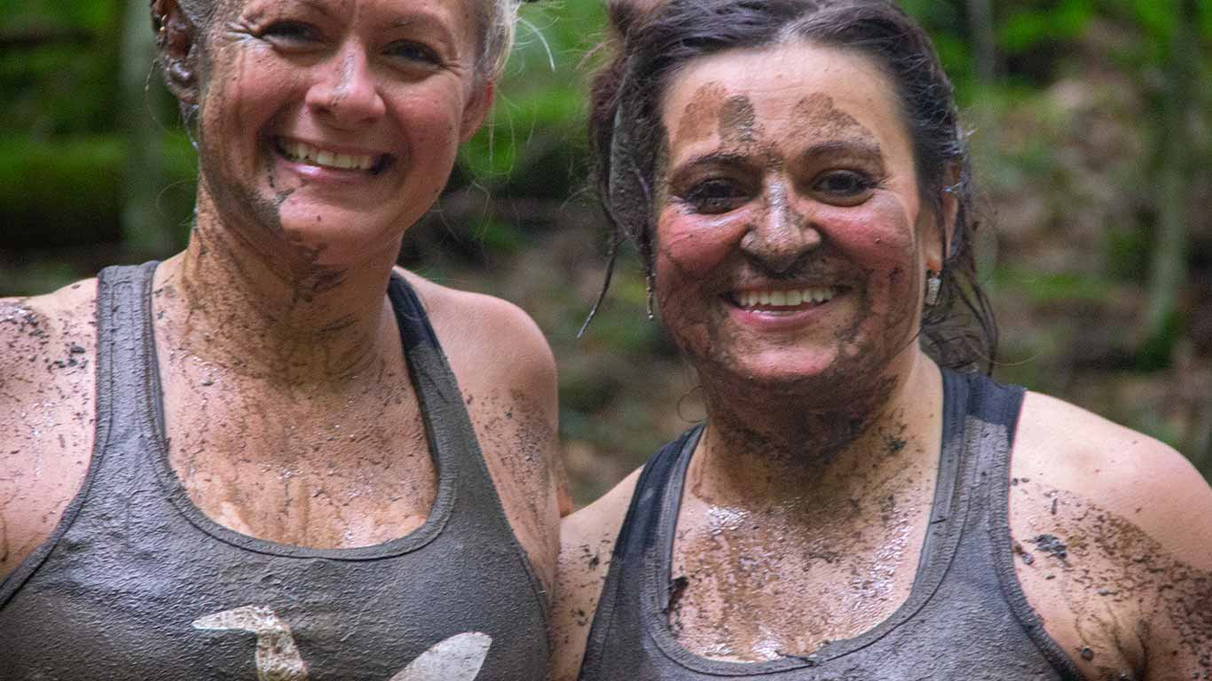 Two friends at the Gritty Chix Mud Run