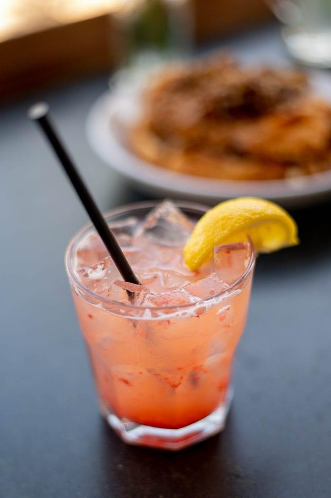 Strawberry lemonade cocktail