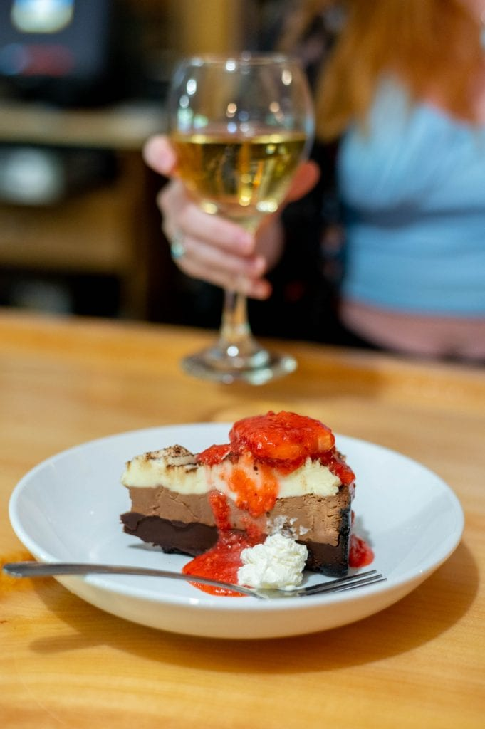 chocolate pie and wine