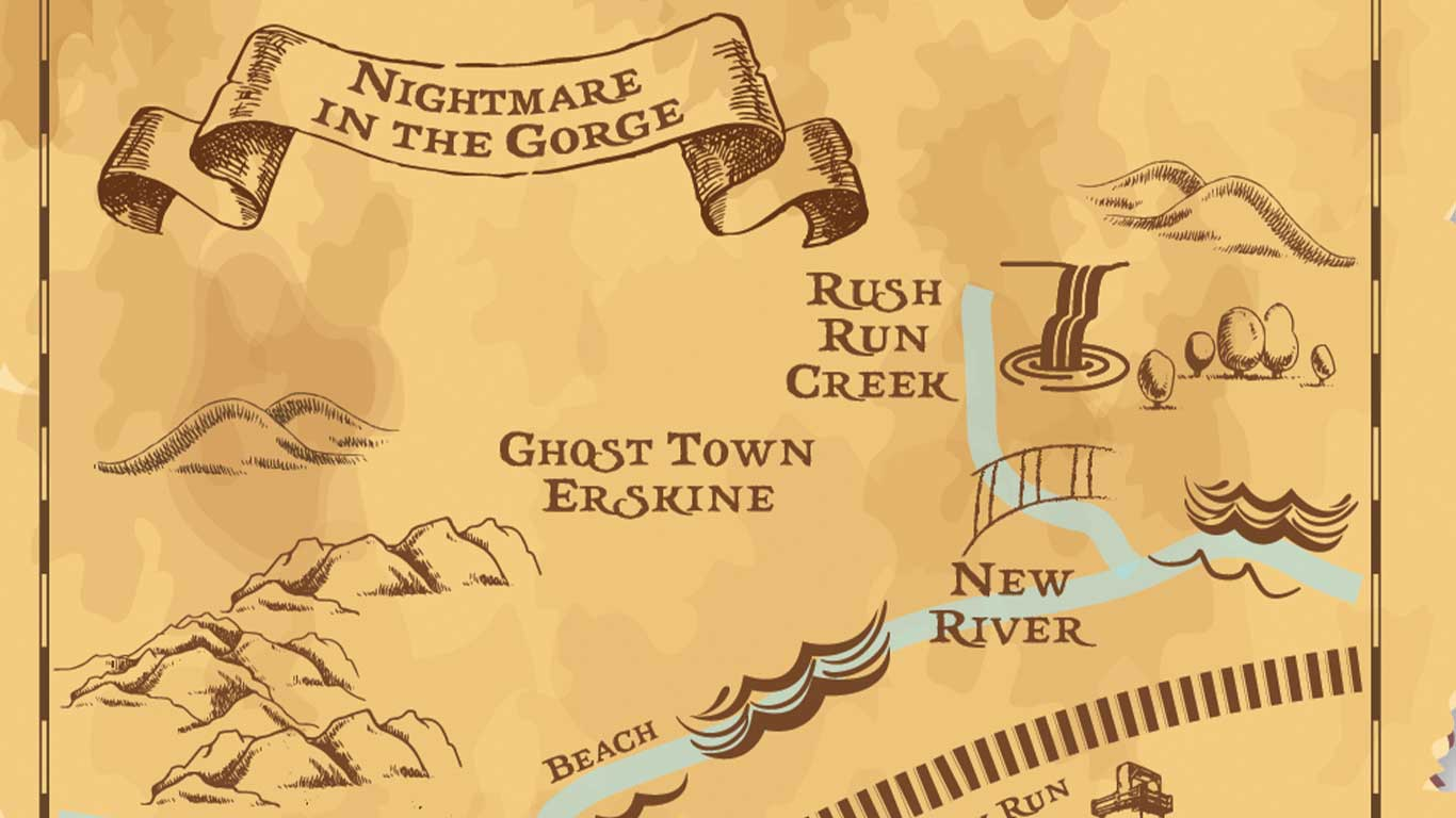 Treasure map for Nightmare in the Gorge