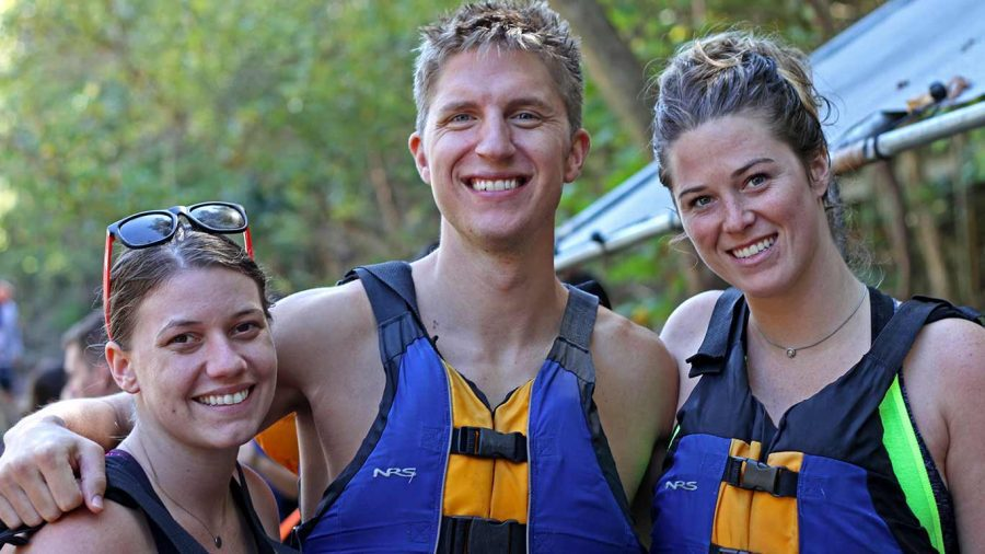 Group of rafters smiling