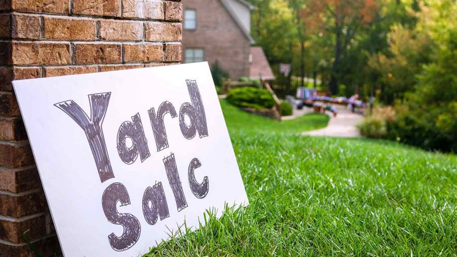 Yard Sale during Labor Day Weekend